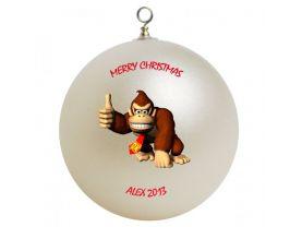 Donkey Kong Personalized Custom Christmas Ornament