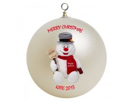 Frosty the Snowman Personalized Custom Christmas Ornament