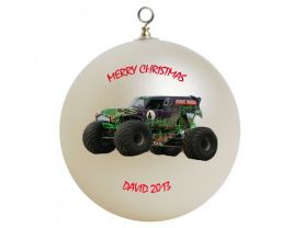 Grave Digger #2 Personalized Custom Christmas Ornament