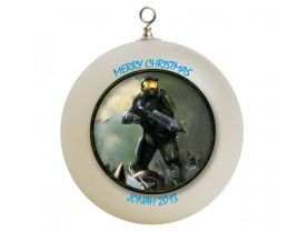 Halo Master Chief Personalized Custom Christmas Ornament