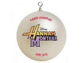 Hannah Montana Logo Personalized Custom Christmas Ornament
