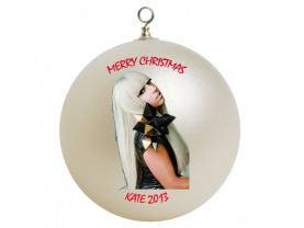 Lady Gaga Personalized Custom Christmas Ornament #3