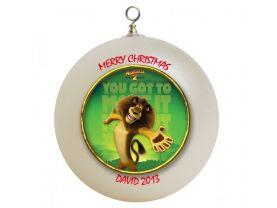 Madagascar Personalized Custom Christmas Ornament #2
