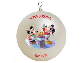 Mickey & Minnie Mouse Personalized Custom Christmas Ornament #2