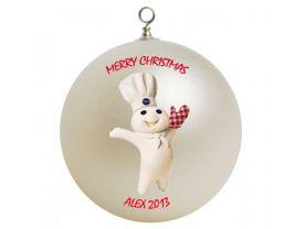 Pilsbury Doughboy Personalized Custom Christmas Ornament