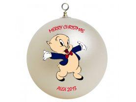 Porky Pig Personalized Custom Christmas Ornament
