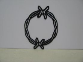 Barbwire 038 Circle Metal Wall Western Silhouette Art,