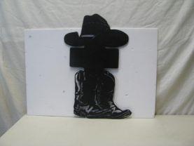 Hat Cross Boots Western Metal Wall Art Silhouette