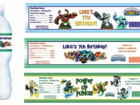 Skylanders Giants Spyros Swap Force Water Bottle Labels - FILE FOR YOU TO PRINT - Birthday Party Supplies Baby Shower