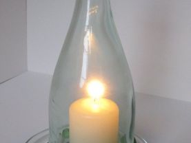 Wine Bottle, Hurricane Candle, Candle Lantern, Wine Lover Gift