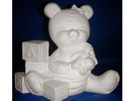 Baby Bear with Toys - Paint Your Own Ceramics