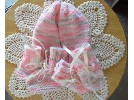 Pink and Tan Newborn Set