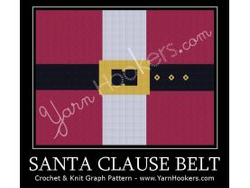 Santa Clause Belt - Afghan Crochet Graph Pattern Chart - PDF Download