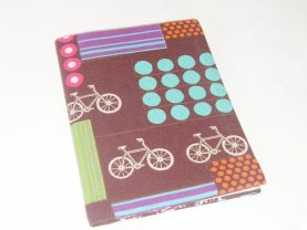 Biker™s Journal - Fabric Covered Notebook - Bicycles - Gift for Cyclist - Gift Under 20