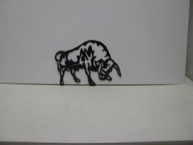 Bull Metal Wall Yard Art Silhouette