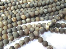 wholesale bulk  agate gemstone  round ball crystal rock matt crab grey mixed jewelry spacer 12mm --5strands 16inch