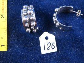 Silver earrings. Cat# 0126