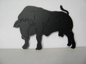 Charolais Bull Metal Art Silhouette