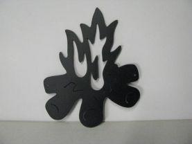 Camp Fire 428 Metal Art Silhouette