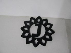 Trivet Large Customized with Your Initial Metal Kitchen Art