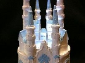 .weddind  quinceanera sweet 16  cinderella   light cake topper in blue
