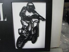 Motorcycle 009 Metal Wall Art Silhouette