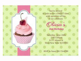 Cupcake personalized custom Birthday Invitation Printable