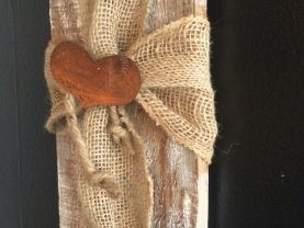 Cross, Easter Cross, Wood Cross.  Recycled wood shabby chic™d adorned with a cross made from burlap.