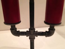 Industrial pipe candle holder