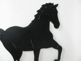 Horse 195 Large Walking Farm Metal Art Silhouette