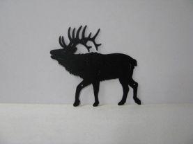 Elk 0007 Large Wildlife Rustic Metal Art Silhouette