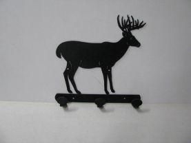 Buck 037 Standing 3 Hook Coat Rack Metal Art