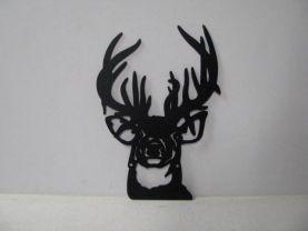 Buck 005 Large Wildlife Head Metal Art Silhouette