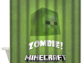"#02 Minecraft Creeper Custom Shower Curtain 60"" x 72"""