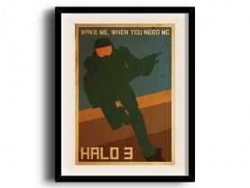 Halo 3 (11 x 17 inch, A3) retro poster, Halo 3 digital art poster