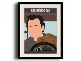 Groundhog Day poster, Bill Murray digital art poster digital art poster