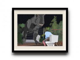 Jurassic Park minimalist poster, Jurassic Park digital art poster