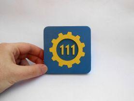 Handmade Vault 111, Fallout coaster