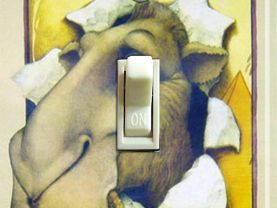 Vintage Camel Filter Switch Plate (Single)