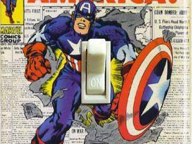 Vintage Captain America #109 1968 Switch Plate (Single)