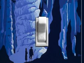 CAVES vintage travel poster Switch Plate (single)