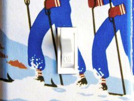 NEW YORK Vintage Ski Poster Switch Plate (single)