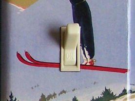 SKI JUMP Soaring Vintage Ski Poster Switch Plate (single)