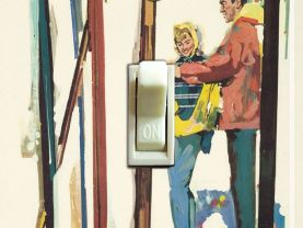 Tahoe, Truckee or Sun Valley SKIS Vintage Ski Poster Switch Plate (single)