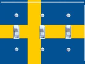 SWEDEN Flag Triple Switch Plate