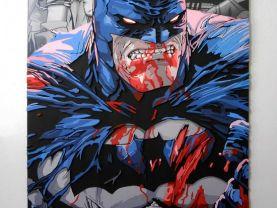 Handmade Batman wall hanging, Batman wood wall art