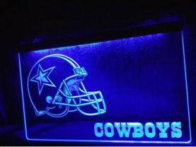 Dallas Cowboys Helmet NR Bar LED Neon Light Sign