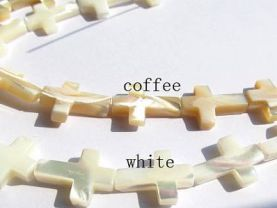 2strands 8-25mm Genuine MOP Shell ,Pearl Shell cross ,cross shell white brown jewelry bead