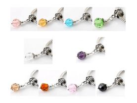 Glass Dangle Beads for jewelry making