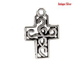 Antique Silver Filigree Cross